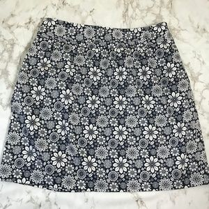 Brooks Brother 346 Blue White Floral Skirt